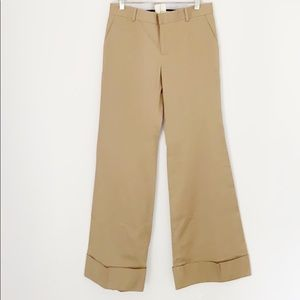 NWOT Band of Outsiders Tan Wide Leg Slim Pants 31